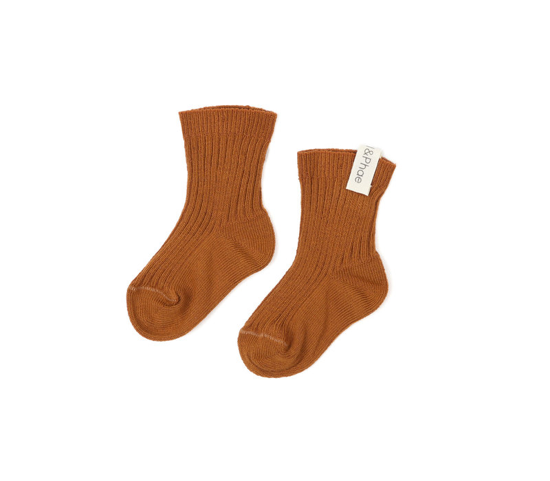 Phil&Phae Ribbed baby socks hazel