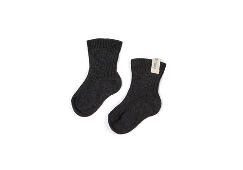 Phil&Phae Phil&Phae Ribbed baby socks graphite