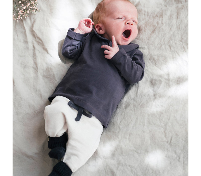 Phil&Phae Ribbed baby socks graphite