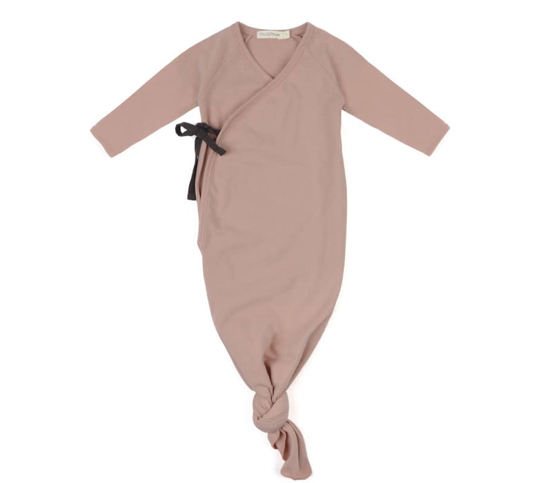 Phil&Phae Knotted baby gown vintage blush