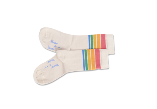 Wander & Wonder Wander & Wonder Rainbow Stripe Socks
