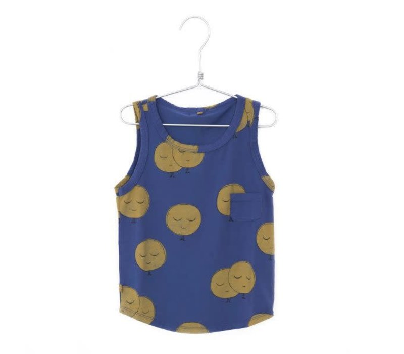 Lotiekids Tank Top Moons Indigo Blue