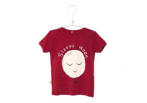 Lötiekids Lotiekids Retro Tshirt short sleeve Sleepy Moon Washed Red