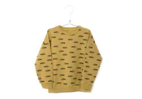 Lötiekids Lotiekids Sweater Fishes Sun Yellow