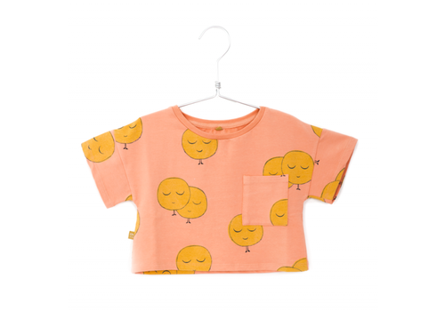 Lötiekids Lotiekids  Crop Short Sleeve Sweatshirt Salmon