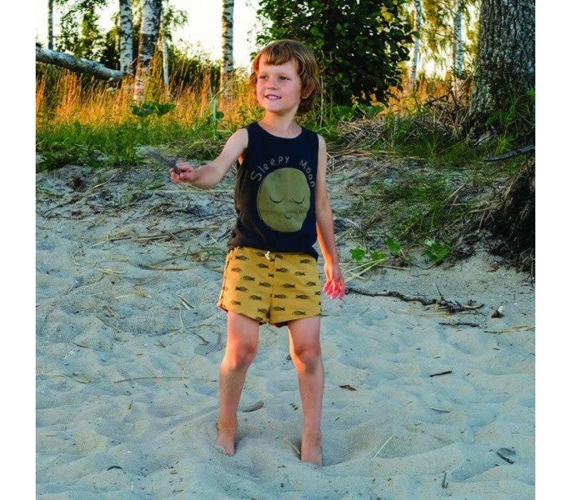 Lotiekids Shorts Fishes Sun Yellow