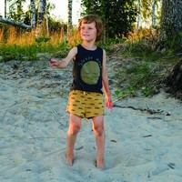 Lotiekids Shorts Solid Yellow