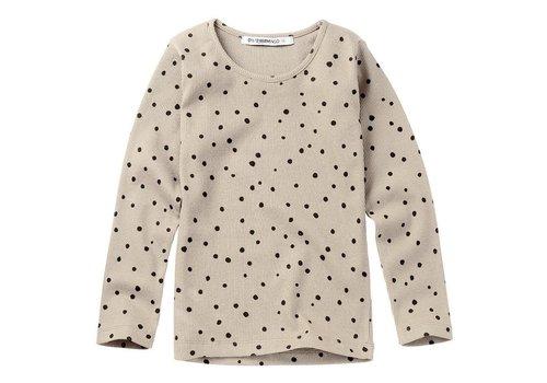 Mingo Mingo Rib Top Dots Stone