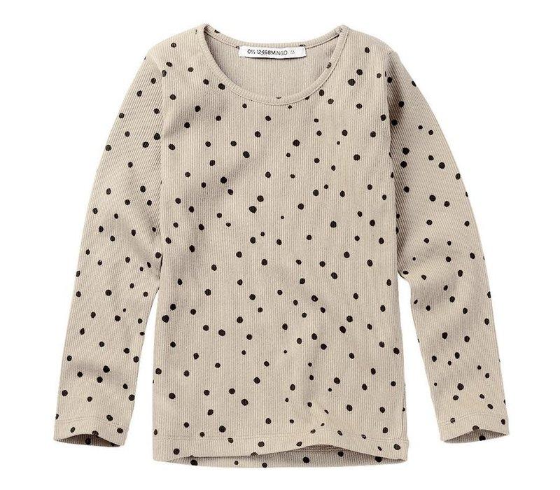 Mingo Rib Top Dots Stone