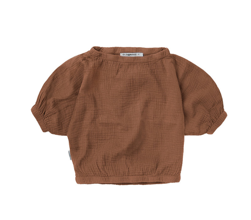 Mingo Muslin Crop Top Warm Earth