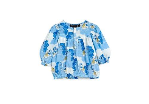 Mini Rodini Mini Rodini Unicorn noodles woven blouse