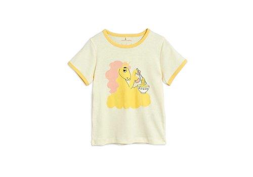 Mini Rodini Mini Rodini Unicorn noodles sp ss tee yellow