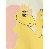 Mini Rodini Unicorn noodles sp ss tee yellow