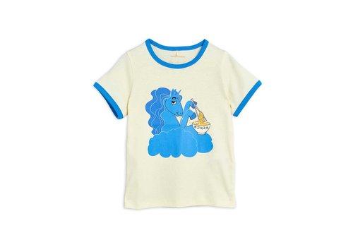 Mini Rodini Mini Rodini Unicorn noodles sp ss tee Blue