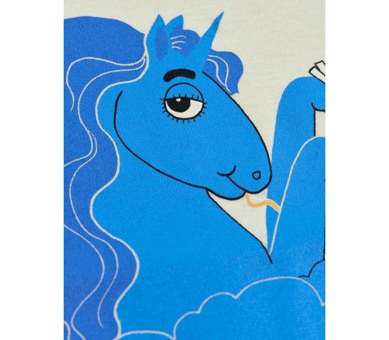 Mini Rodini Unicorn noodles sp ss tee Blue