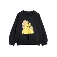 Mini Rodini Unicorn noodles sp sweatshirt black
