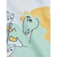 Mini Rodini Unicorn noodles aop leggings Green