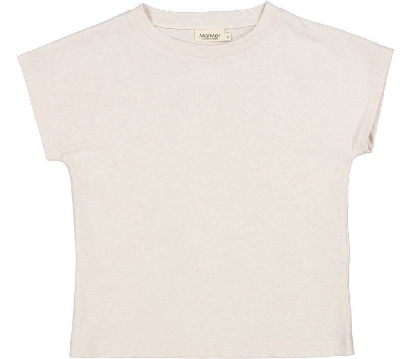 MarMar Copenhagen Tove, Linen Slub, T-shirt, Kit Melange