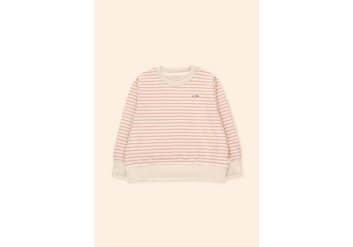 TINYCOTTONS TINYCOTTONS, SS21-145, STRIPE SWEATSHIRT *light cream/red*