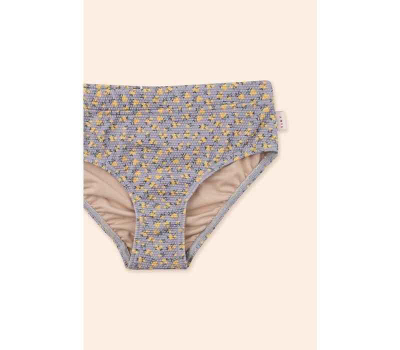 TINYCOTTONS, SS21-326, SMALL FLOWERS SWIM SET *summer grey/yellow*