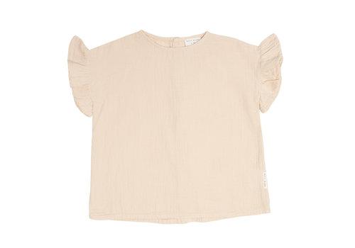 Petit Blush Petit Blush Loua frill blouse Sandshell