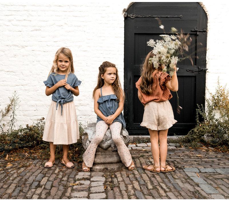 Petit Blush Lewis frill Skirt Sandshell