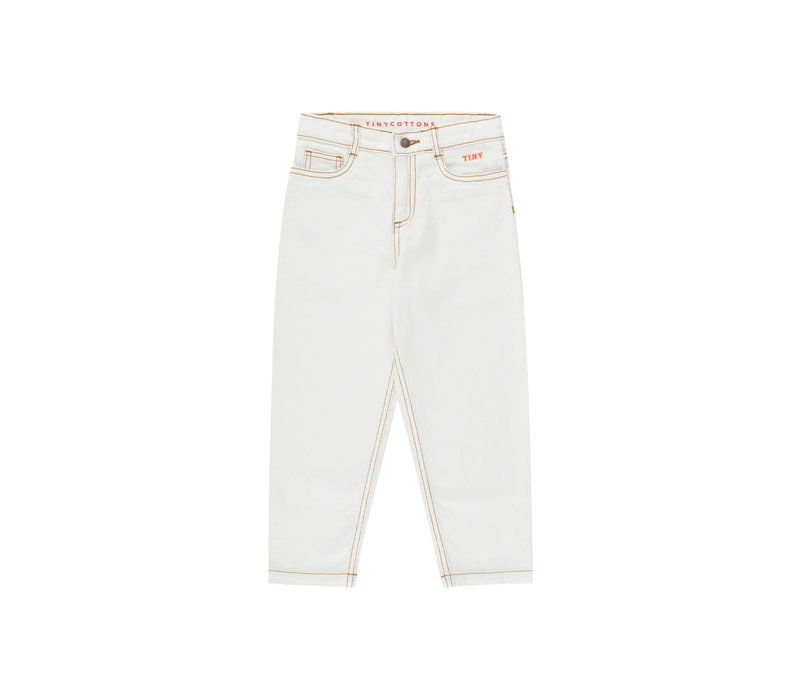 TINYCOTTONS SS21-293 TINY BAGGY JEANS off-white