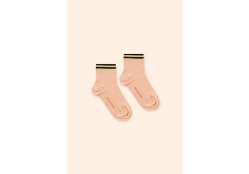 TINYCOTTONS TINYCOTTONS SS21-362 THIN STRIPES QUARTER SOCKS nude