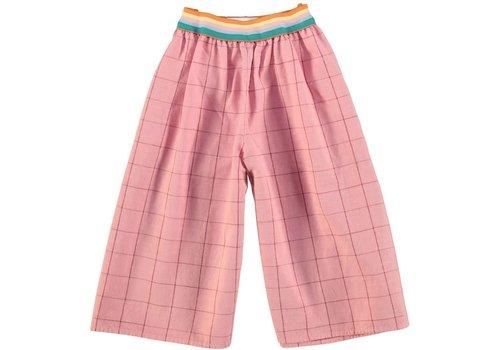 PIUPIUCHICK Piupiuchick Trousers Culotte Vintage Pink & garnet checkered