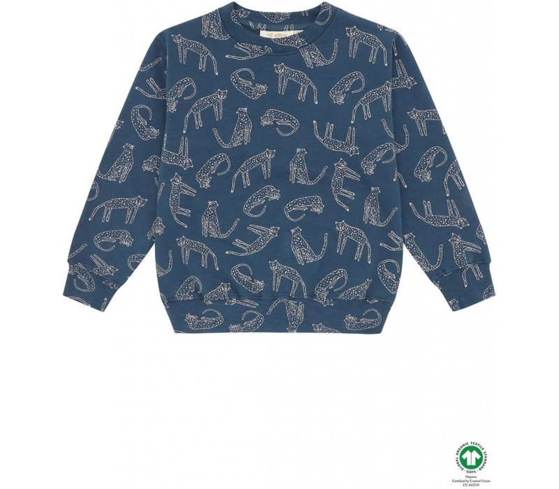 Soft Gallery Baptiste Sweatshirt Majolica Blue, AOP Loeline