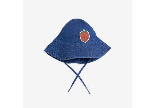 Mini Rodini Mini Rodini  Denim Strawberry Sun Hat
