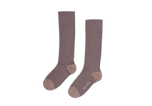 Phil&Phae Phil&Phae Ribbed knee socks Heather