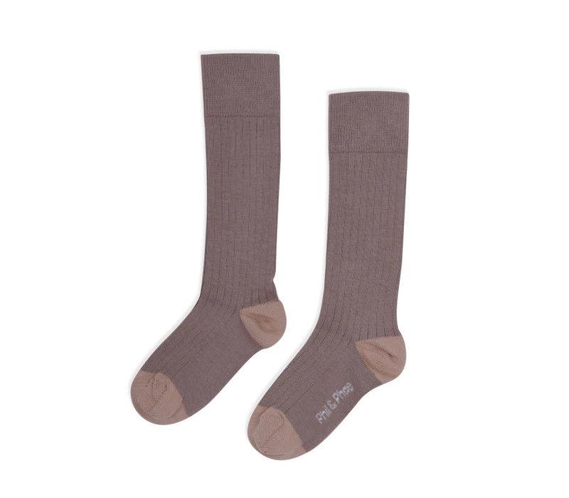 Phil&Phae Ribbed knee socks Heather