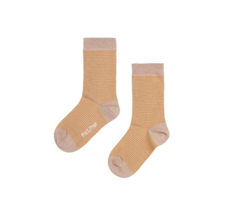 Phil&Phae Golden Stripe Socks