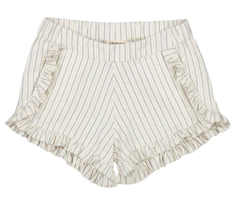 MarMar Copenhagen Pytte, White Sage Stripes, Shorts
