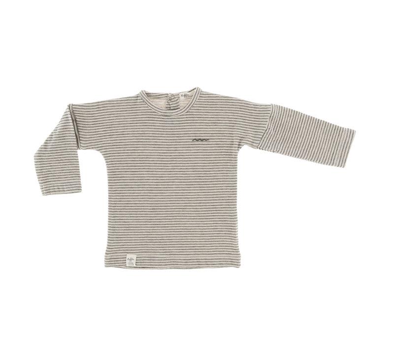Riffle Longsleeve grey / green stripe