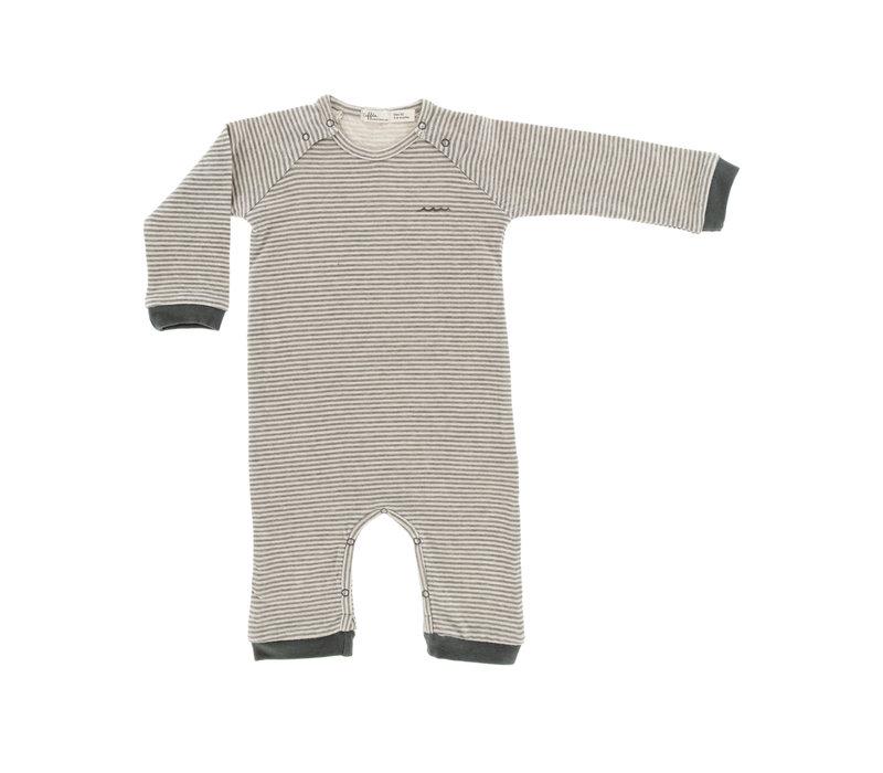 Riffle Suit Grey/Green Stripe