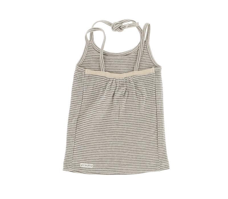 Riffle Dress grey/green stripe