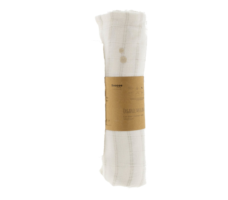 Snooze Baby ORGANIC Swaddle cot 120x120 cm Stone Beig