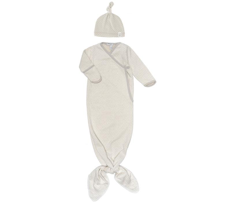 Snoozebaby ORGANIC new born cocoon  incl hat