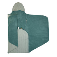 Snoozebaby ORGANIC Wrap Blanket Trendy Wrapping Smokey Green