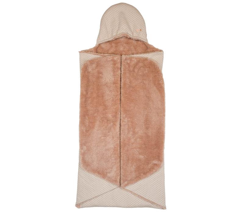 Snoozebaby ORGANIC Wrap Blanket Trendy Wrapping Milky Rust