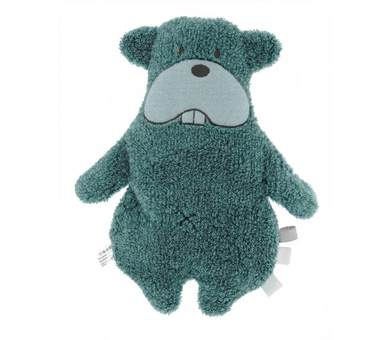 Snoozebaby ORGANIC soft toy y Bammy Beaver Smokey Green