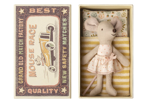 Maileg Copy of Maileg Little Sister Mouse in Matchbox
