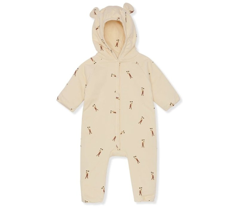 Konges Slojd NEW BORN ONESIE WITH HOOD DEUX - STRONG MAN
