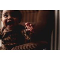Maed for Mini Chocolate Leopard Newborn Romper
