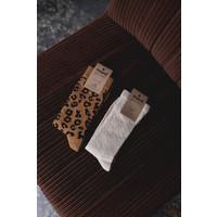 Maed for Mini Brown Leopard Knee Socks