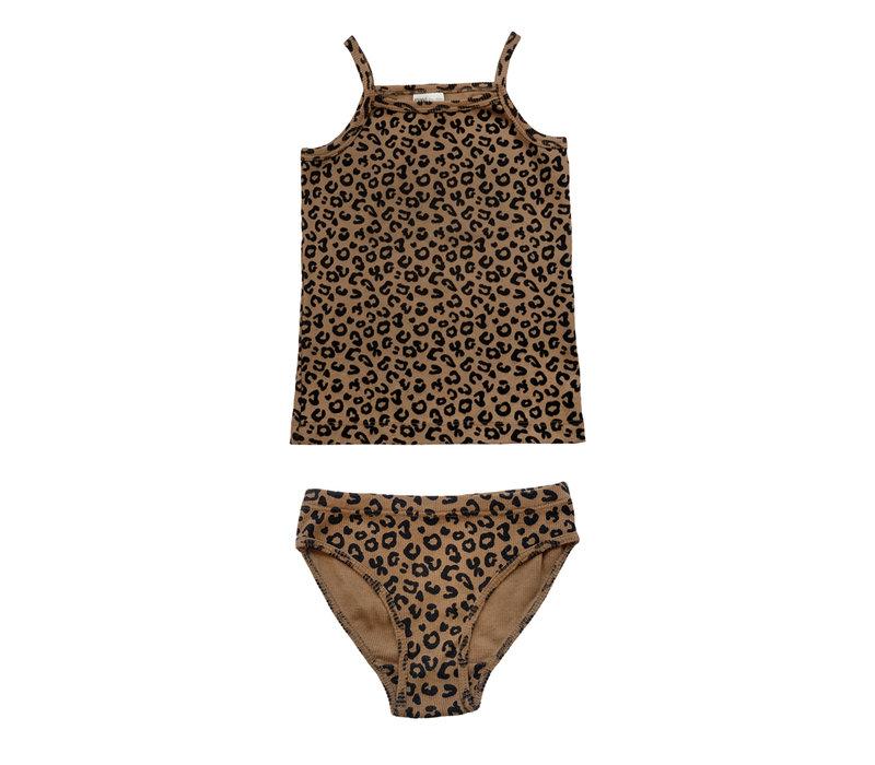 Maed for Mini Chocolate Leopard brief set