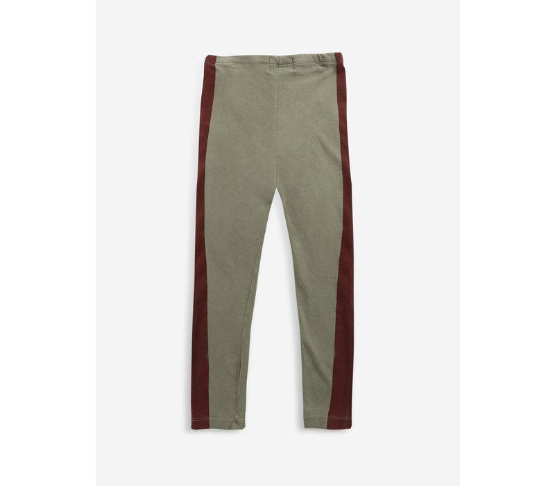Bobo Choses Maroon Stripes leggings