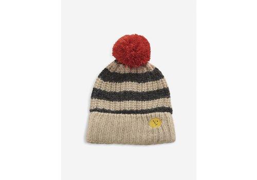 Bobo Choses Bobo Choses Stripped knitted beanie